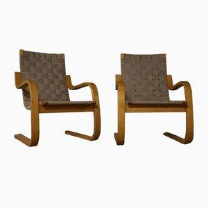 Sessel Modell 406 von Alvar Aalto für Artek, 1960er Jahre, 2er-Set