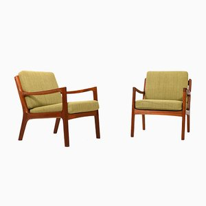 Teak Senator Easy Chairs by Ole Wanscher, 1960s, Set of 2