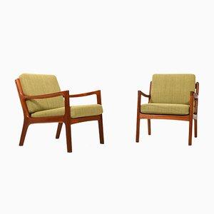 Teak Senator Easy Chairs von Ole Wanscher, 1960er Jahre, 2er-Set