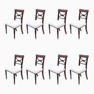Esszimmerstühle aus georgianischem Mahagoni, 8er-Set
