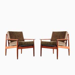 Armlehnstühle von Arne Vodder für Glostrup, 1960er, 2er Set