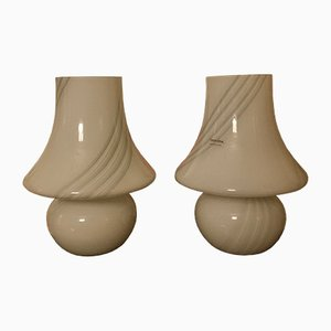 Italian Murano Glass Table Lamps by Paolo Venini for Venini, 1970s, Set of 2