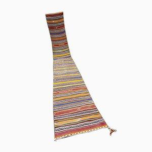 Vintage Turkish Kilim Striped Runner Rug, 1970s