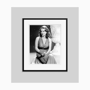 Thoughtful Bette Archival Pigment Print Framed in Black by Everett Collection