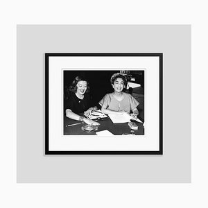 Bette Davis & Joan Crawford Script Reading Archival Pigment Print Framed in Black by Everett Collection