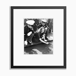 Bette Davis Making Her Mark At Grauman's Chinese Theatre Archival Pigment Print Framed in Black by Everett Collection