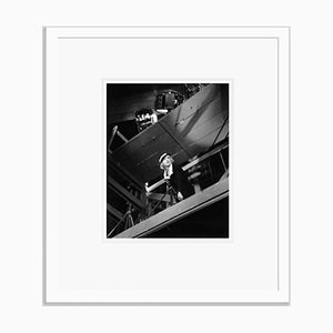Bette Davis on Set of Parachute Jumper Archival Pigment Print Framed in White by Everett Collection