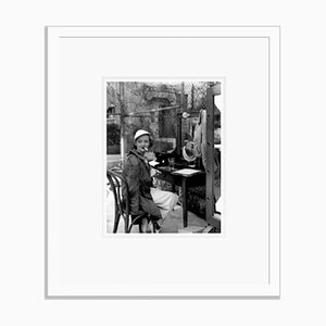 Bette Davis on Location Archival Pigment Print Framed in White by Everett Collection