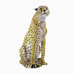 Ceramic Cheetah, Italy, 1950s