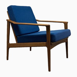 Mid-Century Solid Teak Lounge Chair by Arne Vodder for Glostrup