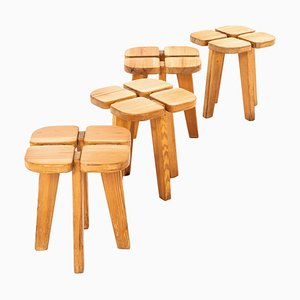 Model Apila Stools by Lisa Johansson-Pape for Stockmann Oy, Finland, Set of 4