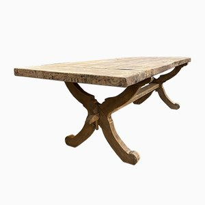 Large Convent Table in Solid Oak, 1950s