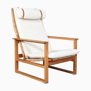2254 Oak Sled Lounge Chair in Cane by Borge Mogensen, 1956, Denmark