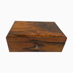 Neoclassical Biedermeier Casket Box in Walnut Veneer, South Germany, 1830s