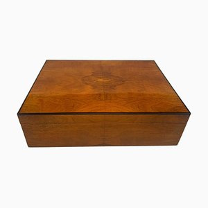 Biedermeier Style Decorative Box in Walnut Veneer, South Germany, 1900s