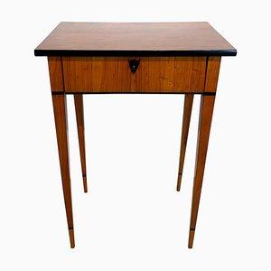 Biedermeier Side Table with Drawer in Cherry Veneer, South Germany, 1820s