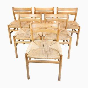 Sedie per sala da pranzo modello BM1 in quercia di Børge Mogensen, set di 6