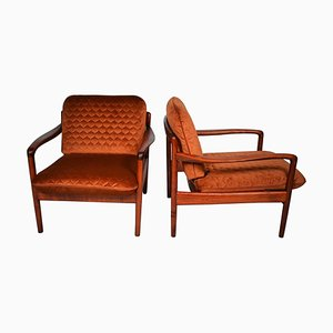 Mid-Century Teak Armchairs, Scandinavian, 1960s, Set of 2