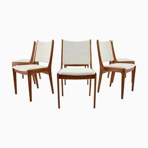 Chaises de Salon en Teck par Johannes Andersen pour Uldum Mobelfabrik, Danemark, 1960s, Set de 6
