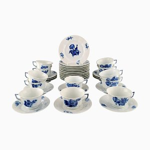 Royal Copenhagen Blue Flower Angular, Coffee Cups with Saucers and Plates Set