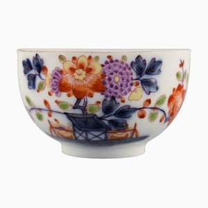 Rare Antique Meissen Teacup in Hand-Painted Porcelain Decorated with Flowers