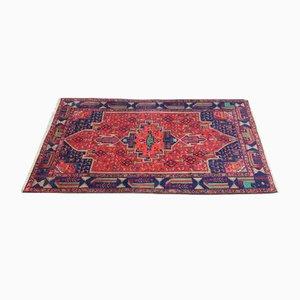 Orientalischer Vintage Teppich aus Bunter Handgeknüpfter Wolle