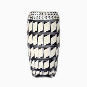 Grand Vase à Motifs Losanges par Dana Bechert
