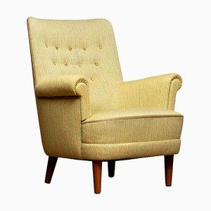Green Lounge Chair Samsas by Carl Malmsten for Oh Sjogren, 1950s