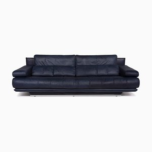 Blue Leather 6500 3-Seat Sofa by Rolf Benz