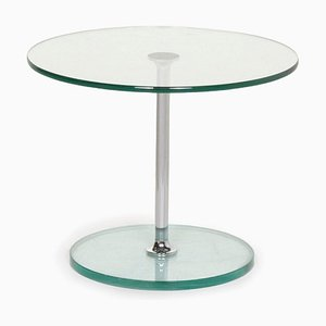 Glass and Silver Largo 1010 Coffee Table from Draenert