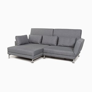Grey-Blue Moule Fabric Corner Sofa Bed from Brühl & Sippold