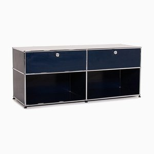 Dark Blue Metal Office Sideboard Cabinet from USM Haller