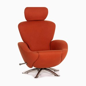 Orange Terracotta Dodo Alcantara Fabric Armchair from Cassina