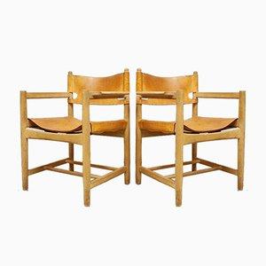 Mid-Century Modell 3238 Esszimmerstühle von Børge Mogensen, 4er-Set