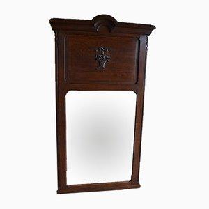 Großer antiker Spiegel aus Eiche