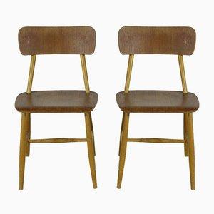 Scandinavian Teak Chairs, 1960s, Set of 2