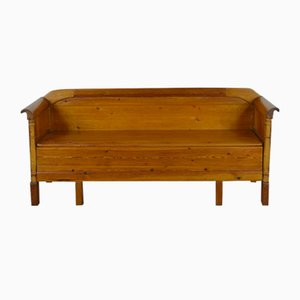 Mid-Century Swedish Solid Pine Bench