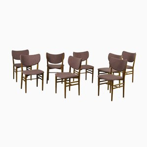 Chairs by Eva & Niels Koppel for Slagelse Mobelvaerk, 1960s, Set of 8