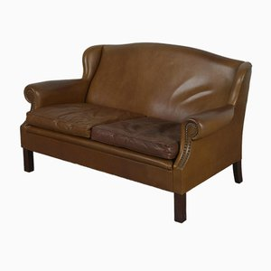 2-Seat Wing Sofa in Cognac Leather, 1970s