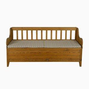Scandinavian Modern Solid Pine Bench, 1950s