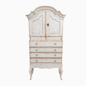 19th Century Swedish Rococo Painted Cabinet