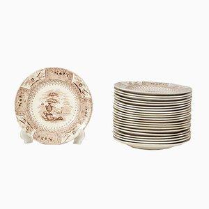 Ceramic Dinnerware Service by Thomas Mayer for Canova, Staffordshire, 1830, Set of 22