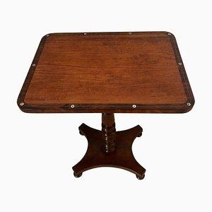 Antique William IV Satinwood Inlaid Lamp Table