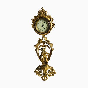 Antique French Ornate Gilded Clock, 19th Century