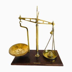 Victorian Antique Brass Scales, Set of 2