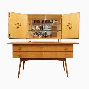 Credenza e mobile bar in ciliegio, anni '50