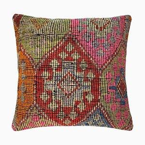 Vintage Upcycled Turkish Tapis Kelim Pillow Cover