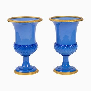 Opaline Vases, Set of 2