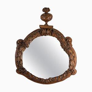 Wichtiger Spiegel mit Rahmen aus geschnitztem Nussholz