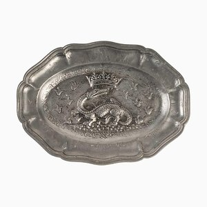 Decorative Pewter Tray